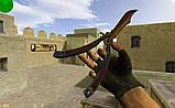 Нож бабочка тренировочный Counter Strike Go градиент, фото 7