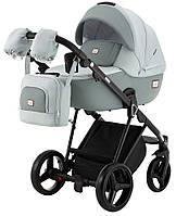 Детская коляска 2 в 1 Adamex Mimi CR234 светло-серый - нефрит кожа (выдавленная точка), фото 1