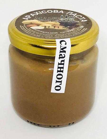 Арахісова паста з чорним шоколадом, 180г, Manteca