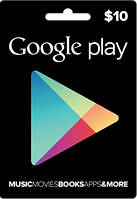 Google Play Gift Card 10$ (10 долларов) для Гугл Плей Маркета сертификат