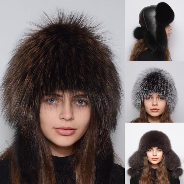 Женские шапки из меха песца,лисы,чернобурки