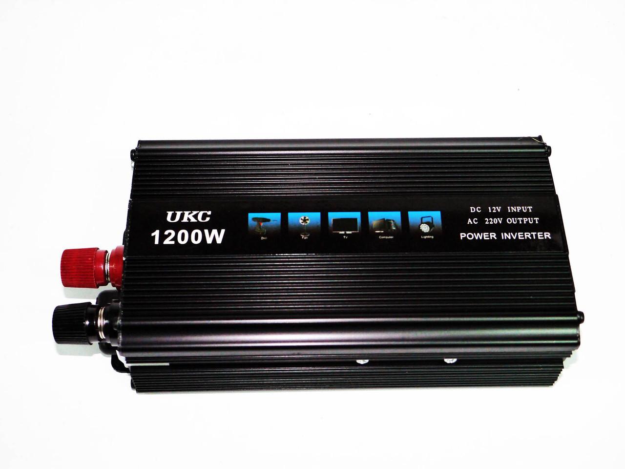 Перетворювач напруги (інвертор)12-220V 1200W
