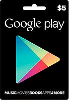 Google Play Gift Card 5$ (5 долларов) для Гугл Плей Маркета сертификат