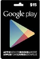 Google Play Gift Card 15$ (15 долларов) для Гугл Плей Маркета сертификат карта пополнения счета