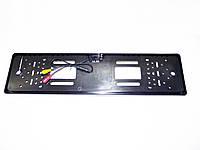 Камера заднього виду у рамці автомобільного номера Чорна, фото 1
