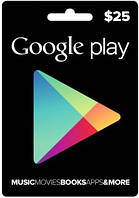 Google Play Gift Card 25$ (25 долларов) для Гугл Плей Маркета сертификат пополнения счета