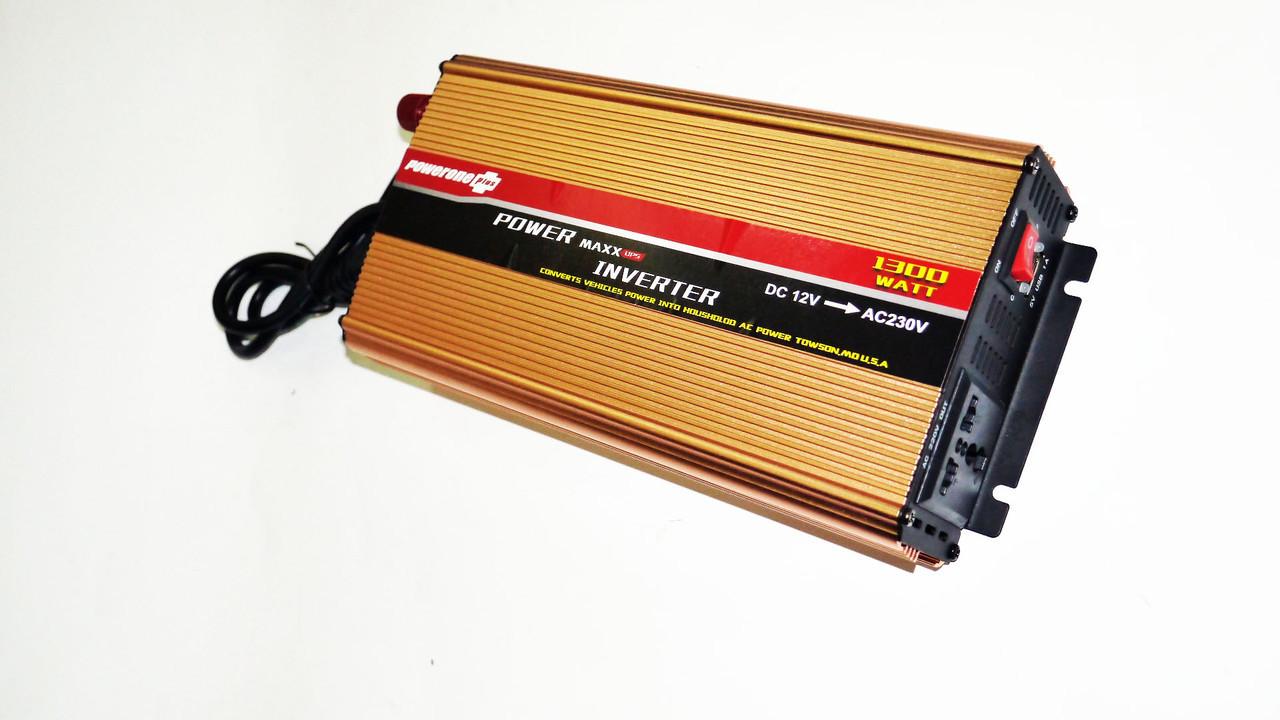 Инвертор 1300W с Зарядкой 12V220V Преобразователь