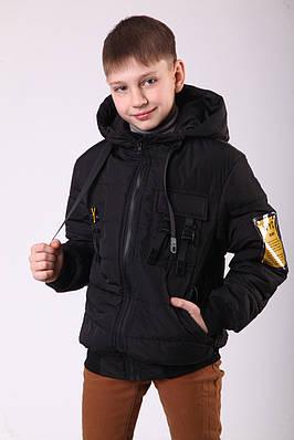 Куртка на хлопчика демісезонна 36-44 чорна