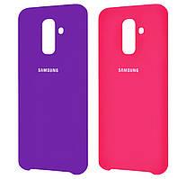 Чехол-накладка Original Silicone case на Samsung Galaxy A6 Plus (2018) SM-A605F