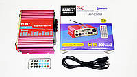 Усилитель UKC AV-206U - Bluetooth, USB,SD,FM,MP3! 300W+300W Караоке 2х канальный, фото 1
