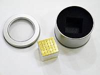 Неокуб квадратний Neocube 216 кубиків 5мм в металевому боксі (Золотий), фото 1