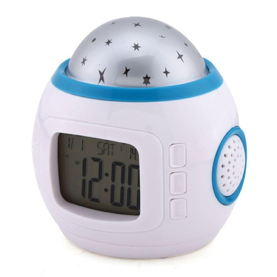Часы с будильником и проектором звездного неба 1038