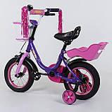"""Детский велосипед """"Corso"""" 12 дюймов 1275 с сиденьем для куклы, фото 2"""