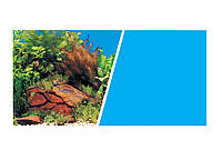 Marina Double Sided Aquarium Backround Фон 45см*7,5м дв. растения с камнями/голубой фон