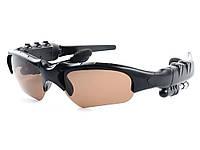 Беспроводная Bluetooth гарнитура-очки Lesko  Коричневый