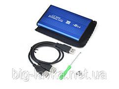 Кейс для диска HDD/SSD 2.5' External Case IDE 2.5 в USB 2.0  Синий