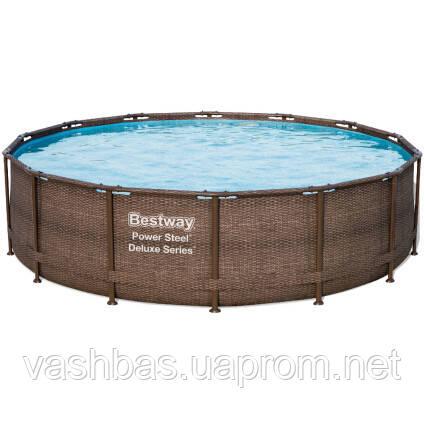 Bestway Каркасный бассейн Bestway Ротанг 56664 (427х107) с картриджным фильтром