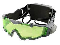 Захисні окуляри NBG світлодіодні з відкидною підсвічуванням регульовані світлодіодні