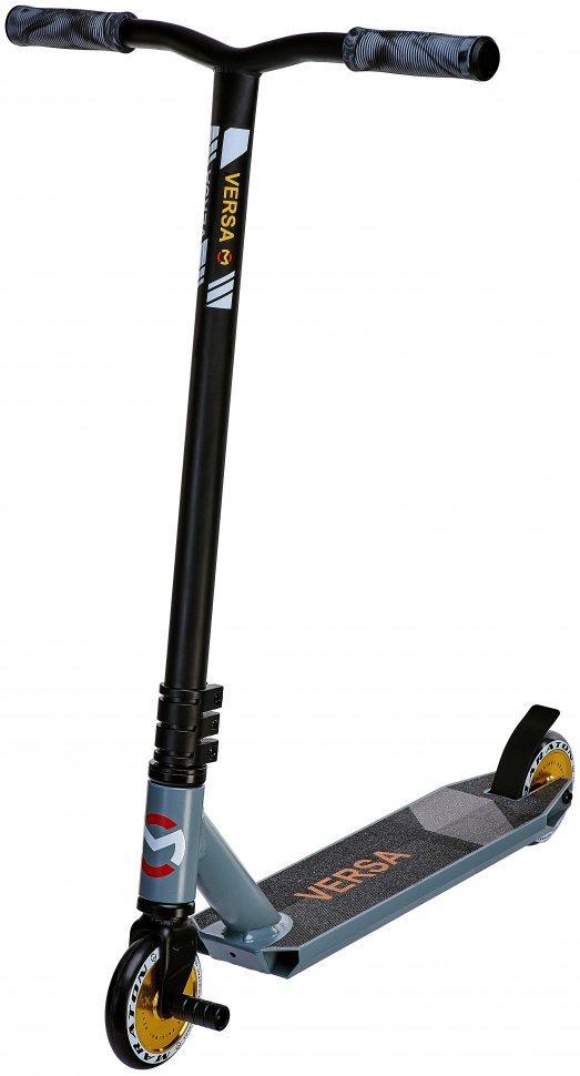 Трюковый самокат Maraton Versa HIC с пегами и усиленной рамой (Серый)