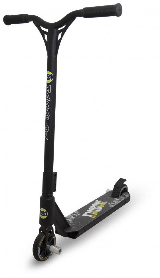 Трюковый самокат Maraton Desel с пегами (Черный)