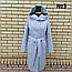 Пальто женское весеннее с капюшоном удлиненное, фото 3