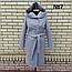 Пальто женское весеннее с капюшоном удлиненное, фото 4