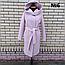 Пальто женское весеннее с капюшоном удлиненное, фото 5