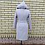 Пальто женское весеннее с капюшоном удлиненное, фото 6