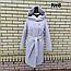 Пальто женское весеннее с капюшоном удлиненное, фото 7