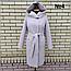 Пальто женское весеннее с капюшоном удлиненное, фото 8