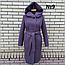 Пальто женское весеннее с капюшоном удлиненное, фото 9