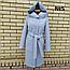Пальто женское весеннее с капюшоном удлиненное, фото 10