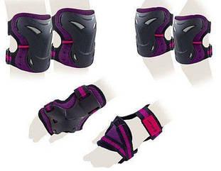 Защита для роллеров Zelart Sport Super Active Black-violet  подростковая