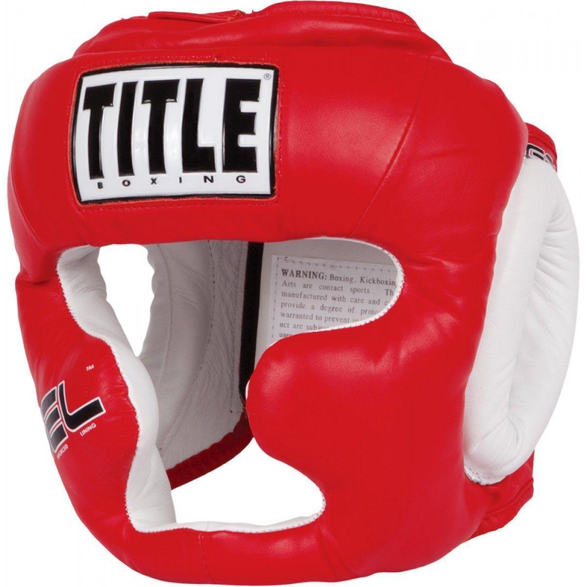 Шлем Title Gel World Full-Face Training Headgear (красный)
