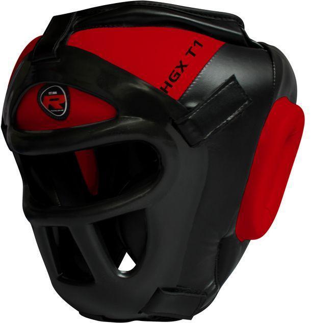 Боксерский шлем тренировочный RDX Guard Red