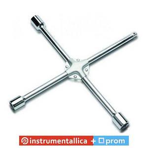 Ключ балонный крестовой 17мм x 19мм x 21мм x 1/2 AEAL1616 Toptul усиленный