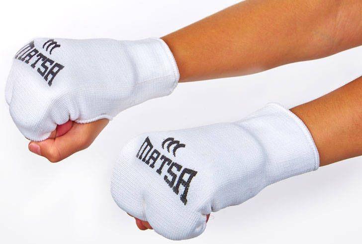 Накладки (перчатки) для карате Matsa  MA-0009-W