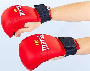 Перчатки для каратэ Matsa MA-0010 красные