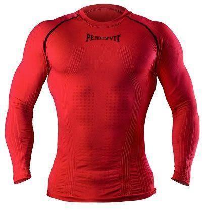 Компресионная футболка (рашгард) 3D Peresvit с длинным рукавом (красная)