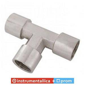 Тройник пневматический с внутренней резьбой 1/4 PT-1863 Intertool