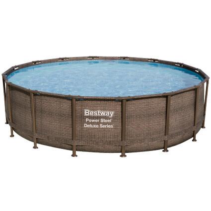 Bestway Каркасный бассейн Bestway Ротанг 56666 (488х122) с картриджным фильтром