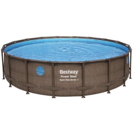 Bestway Каркасный бассейн Bestway Ротанг 56977 (549х122) с картриджным фильтром