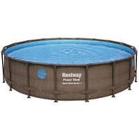 Bestway Каркасный бассейн Bestway Ротанг 56977 (549х122) с картриджным фильтром, фото 1