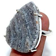 Срібне кільце кварц друза, розмір 17.5