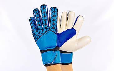 Перчатки вратарские (с косточками) PREMIER LEAGUE (синий)