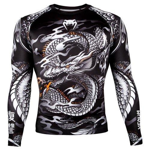 Компрессионная кофта (рашгард) Venum Dragon's Flight Rashguard Black/White