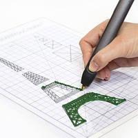Набор аксессуаров для 3D-ручки для проф.исп. 3Doodler Create-ТРАФАРЕТ (поликарбон., 21* 0.1*29.7 см)