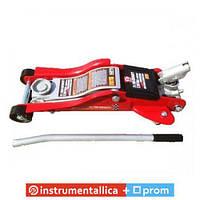 Домкрат гидравлический подкатной 2,5т T825010R Torin профессиональный низкий профиль с поворотной ручкой 89-359мм