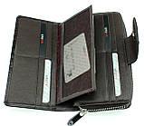 Женский кошелек кожаный коричневый Karya 1119-501, фото 5