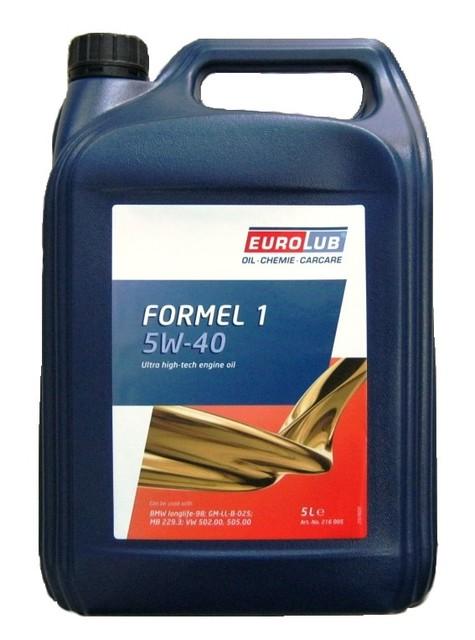 Масло моторное Eurolub 5w40 Formel 1 5L GM-LL-B-025; VW 502.00, 505.00